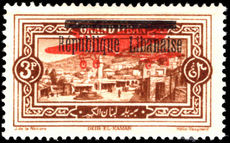 Lebanon 1927 3p brown air lightly mounted mint.