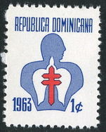 Dominican Republic 1963 Tuberculosis Fund unmounted mint.