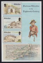 Gibraltar 1983 Fortress Gibraltar in the 18th Century souvenir sheet unmounted mint.