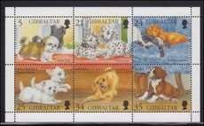 Gibraltar 1996 Puppies sheetlet unmounted mint.