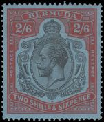 Bermuda 1924-32 2s6d black and red on blue damaged leaf in bottom right fine and lightly mounted mint.