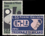 Italy 1951 Triennial Art Exhibition fine used.