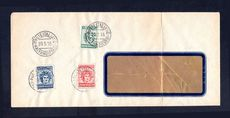 Dodecanese Islands 1912 Island Committee for Union with Greece set fine used on cover. Very rare.
