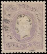 Portugal 1867-70 240r pale dull lilac very fine used.