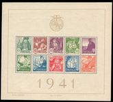 Portugal 1941 Costumes souvenir sheet unmounted mint.