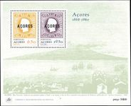 Azores 1980 Stamp Anniversary souvenir sheet unmounted mint.