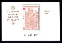Sovereign Military Order of Malta 1980 Apparition of The Virgin Mary at the Siege of Rhodes souvenir sheet unmounted mint.