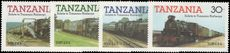 Tanzania 1985 Trains 1st series unmounted mint.