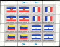 New York 1980 Flag sheet Yugoslavia El Salvador France Venezuela unmounted mint.
