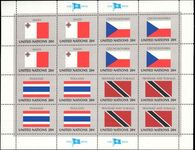 New York 1981 Flag sheet Malta Czechoslovakia Thailand Trinidad unmounted mint.