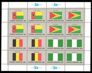 New York 1982 Flag sheet Cape Verde Guyana Belgium Nigeria unmounted mint.