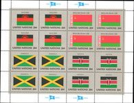 New York 1983 Flag sheet Malawi Belarus Jamaica Kenya unmounted mint.