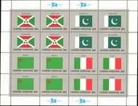 New York 1984 Flag sheet Burundi Pakistan Benin Italy unmounted mint.
