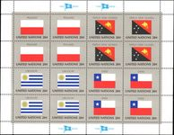 New York 1984 Flag sheet Poland Papua Uruguay Chile unmounted mint.