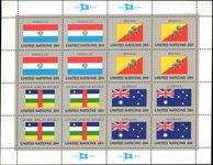 New York 1984 Flag sheet Paraguay Bhutan Central Africa Australia unmounted mint.