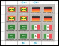 New York 1985 Flag sheet Grenada West Germany Saudi Mexico unmounted mint.