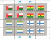 New York 1985 Flag sheet Oman Ghana Sierra Leone Finland unmounted mint.