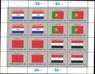 New York 1989 Flag sheet South Africa Portugal Morocco Syria unmounted mint.
