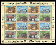 Vienna 1997 Endangered Species sheet unmounted mint.