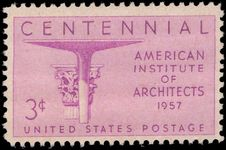 USA 1957 Architects unmounted mint.