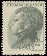 Czechoslovakia 1949 Pushkin unmounted mint.