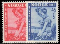 Norway 1950 Infantile Paralysis Fund unmounted mint.