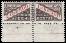 San Marino 1965-72 500l parcel post pair unmounted mint.