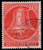Berlin 1951 20pf Freedom Bell clapper centre fine used.