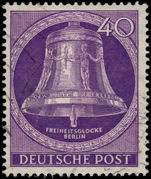 Berlin 1951 40pf Freedom Bell clapper centre fine used.