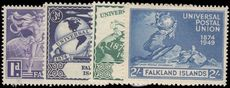 Falkland Islands 1949 UPU lightly mounted mint.