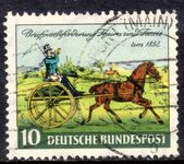 West Germany 1952 Thurn and Taxis Stamp Centenary fine used.