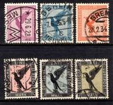 Third Reich 1926-31 Airmail part set including the scarce 3m fine used.