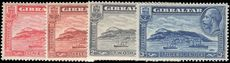 Gibraltar 1931-33 set perf 14 fine lightly hinged mint.