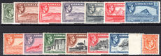 Gibraltar 1938-51 set fine lightly mounted mint.