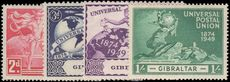 Gibraltar 1949 UPU lightly mounted mint.