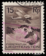 Liechtenstein 1930 15r air fine used.