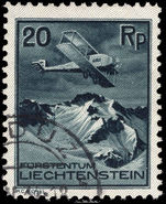 Liechtenstein 1930 20r air fine used.