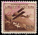 Liechtenstein 1930 25r air fine used.