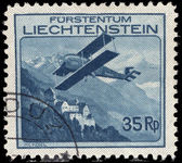 Liechtenstein 1930 35r air fine used.