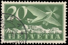 Switzerland 1923-40 20c Airmail on ordinary smooth paper exceptionally fine used.