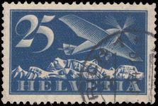 Switzerland 1923-40 25c Airmail on ordinary smooth paper exceptionally fine used.