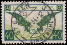 Switzerland 1923-40 40c blue and apple-green on ordinary smooth paper exceptionally fine used.