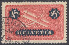 Switzerland 1923-40 45c airmail on ordinary smooth paper exceptionally fine used.