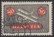 Switzerland 1923-40 50c airmail on ordinary smooth paper exceptionally fine used.