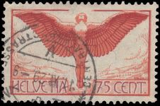 Switzerland 1923-40 75c airmail on ordinary smooth paper exceptionally fine used.