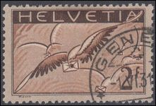 Switzerland 1923-40 2fr airmail on ordinary smooth paper exceptionally fine used.