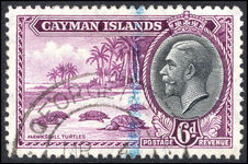 Cayman Islands 1935 6d Turtles fine used.