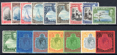 Bermuda 1938-53 set of 16 fine unmounted mint.