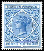 Ceylon 1899-1900 2r25 dull blue lightly mounted mint.