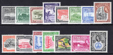 British Guiana 1954 set lightly mounted mint.